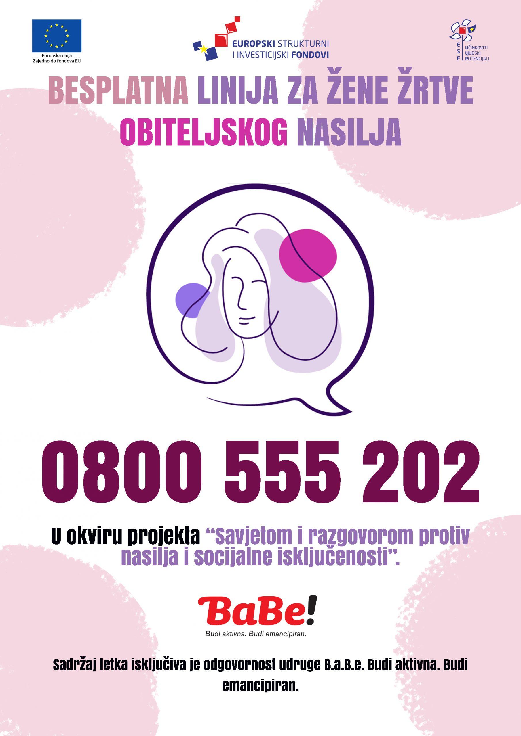 Pokrenuta nova besplatna telefonska linija za žene žrtva nasilja u obitelji